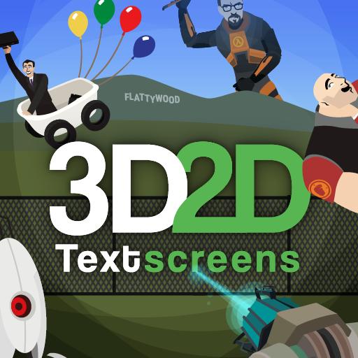 3D2D Textscreens Logo